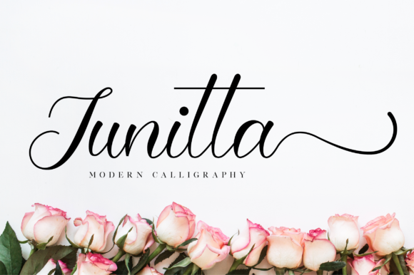 Print on Demand: Junitta Script & Handwritten Font By NissaStudio