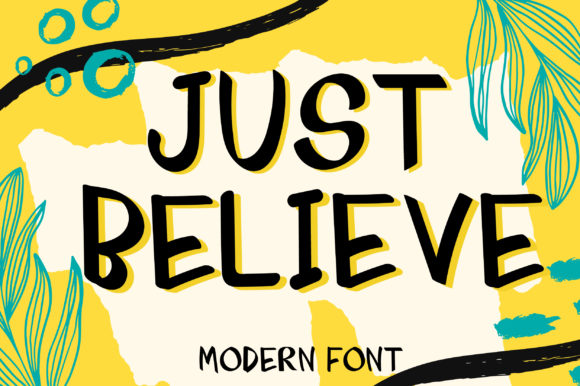 Print on Demand: Just Believe Script & Handwritten Font By PinkPearly