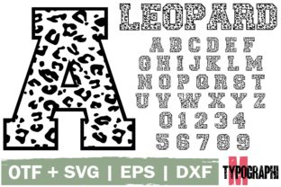 Print on Demand: Leopard Decorativa Fuente Por Typography Morozyuk