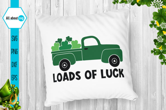 Download Free Loads Of Luck Truck Graphic By All About Svg Creative Fabrica for Cricut Explore, Silhouette and other cutting machines.