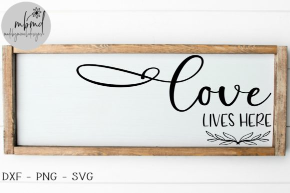 Download Free Loves Lives Here Graphic By Madebymiracledesigns Creative Fabrica for Cricut Explore, Silhouette and other cutting machines.