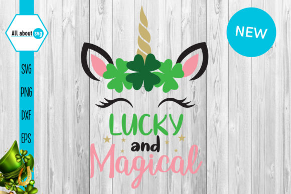 Lucky and Magical Unicorn Graphic Crafts By All About Svg