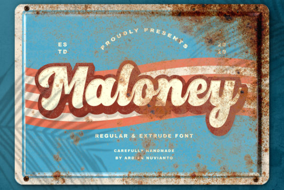 Print on Demand: Maloney Display Font By Ardian Nuvianto - Image 1