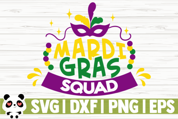 Print on Demand: Mardi Gras Squad Graphic Illustrations By CreativeDesignsLLC