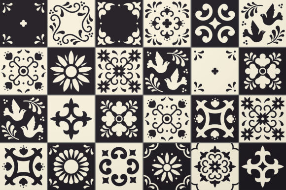 Mexican Talavera Tiles Patterns Set Graphic Patterns By kroljastock - Image 2