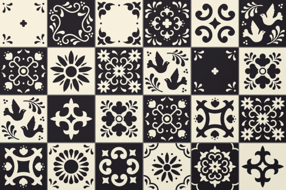 Mexican Talavera Tiles Patterns Set Graphic Patterns By kroljastock - Image 3