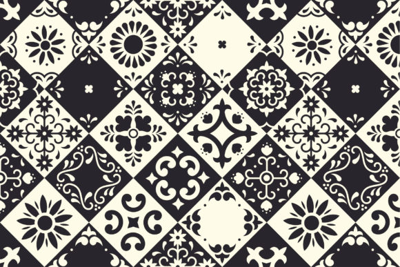 Mexican Talavera Tiles Patterns Set Graphic Patterns By kroljastock - Image 5