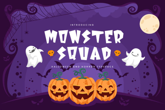 Print on Demand: Monster Squad Display Font By naulicrea