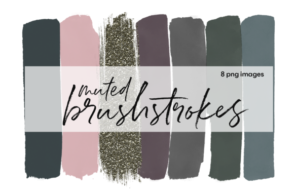 Muted Brushstrokes Graphic Illustrations By KA Designs