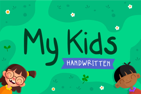 Print on Demand: My Kids Script & Handwritten Font By Tosca Digital