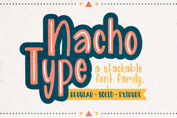 Print on Demand: Nacho Type Sans Serif Schriftarten von The Pretty Letters