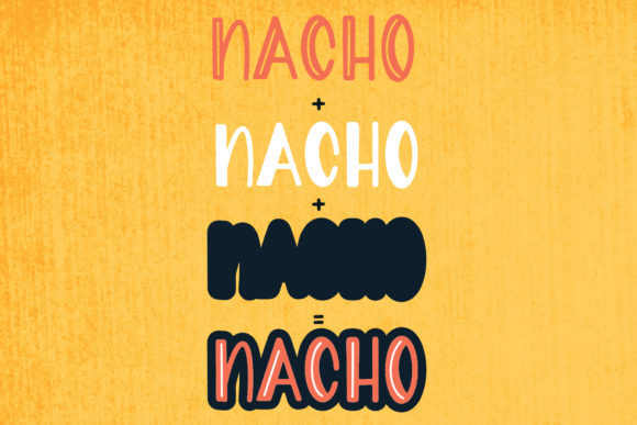 Print on Demand: Nacho Type Sans Serif Font By The Pretty Letters - Image 3