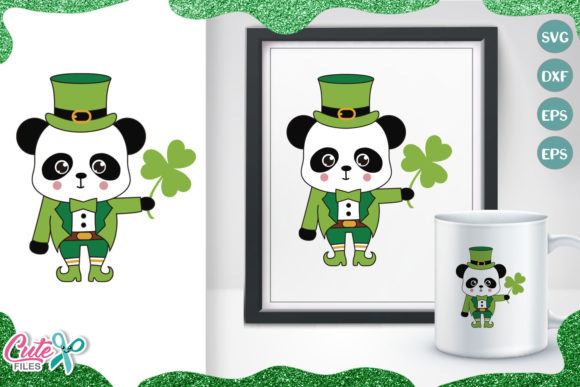 Panda St Patrick's Svg Cut File Graphic Illustrations By Cute files