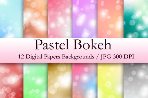 Pastel Bokeh Digital Paper Graphic Backgrounds By PinkPearly