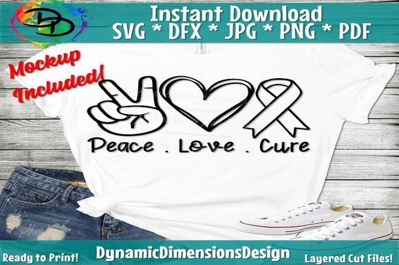 Print on Demand: Peace Love Cure Graphic Crafts By dynamicdimensions