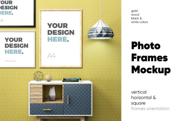 Photo Frame Mockups Graphic Product Mockups By Kavoon