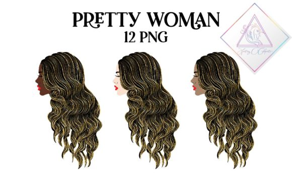 Print on Demand: Pretty Woman Clipart Graphic Illustrations By fantasycliparts