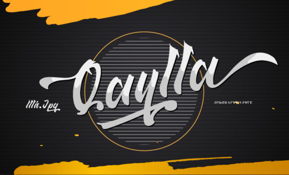 Print on Demand: Qaylla Script & Handwritten Font By MIX.Jpg