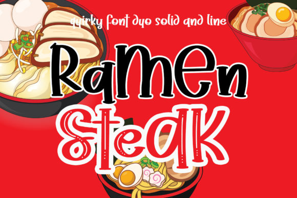 Print on Demand: Ramen Steak Script & Handwritten Font By airotype