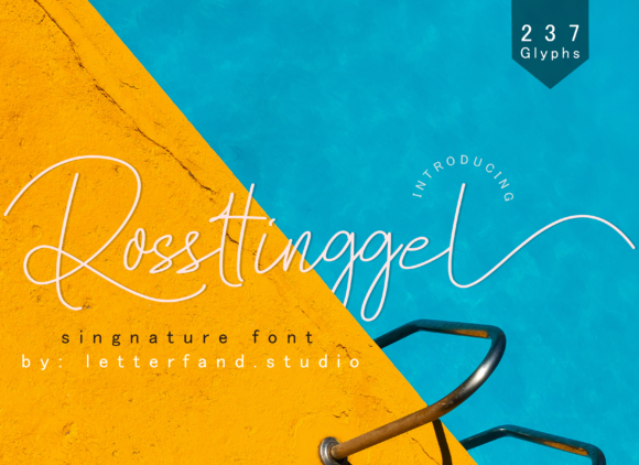 Print on Demand: Rossttinggel Script & Handwritten Font By Letterfand.Studio