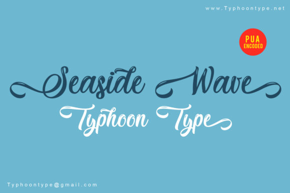 Print on Demand: Seaside Wave Script & Handwritten Font By Typhoon Type - Suthi Srisopha