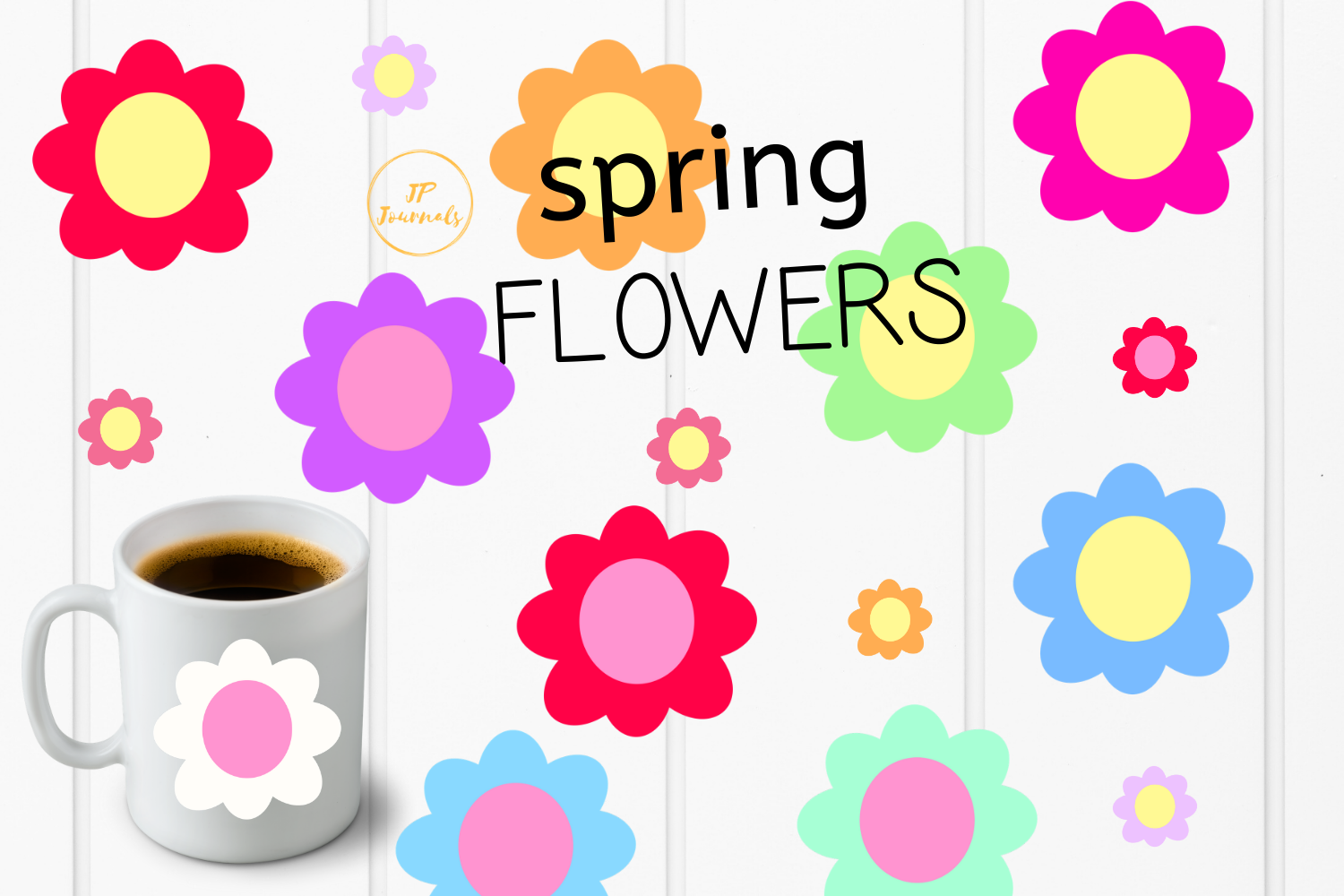 Download Free Spring Flowers Clip Art Graphic By Jpjournalsandbooks Creative for Cricut Explore, Silhouette and other cutting machines.
