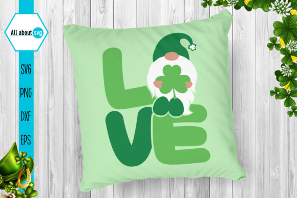 St Patricks Love Gnome Graphic By All About Svg Creative Fabrica