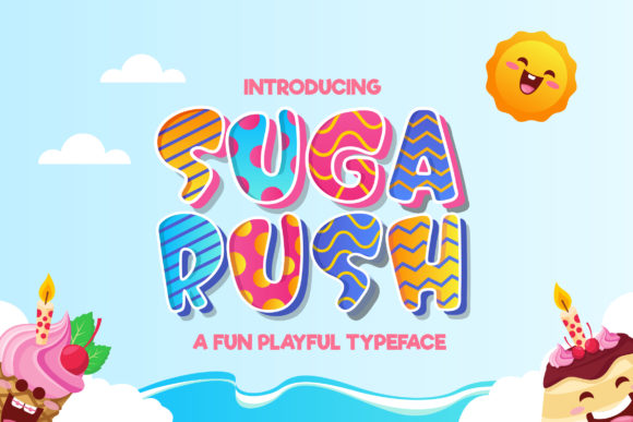 Print on Demand: Suga Rush Display Font By naulicrea