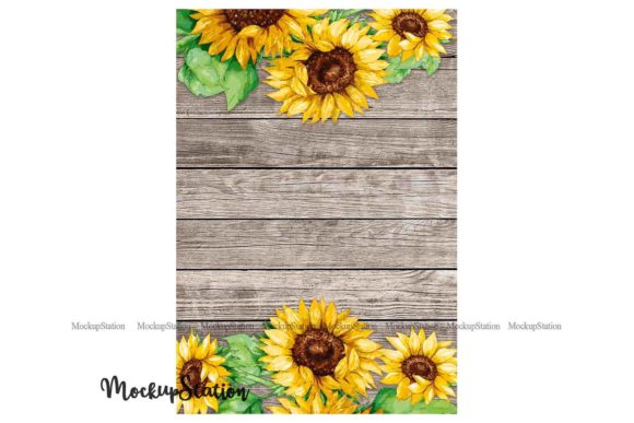 Print on Demand: Sunflower Garden Flag Graphic Print Templates By Mockup Station - Image 2