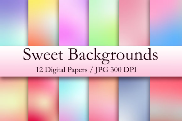 Sweet Backgrounds Digital Paper Graphic Backgrounds By PinkPearly