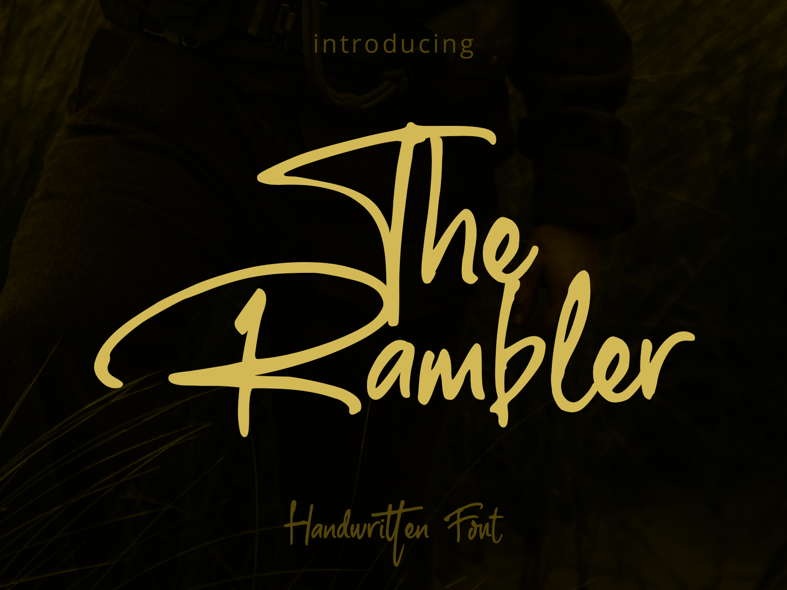 Download Free The Rambler Font By Fontkong Creative Fabrica for Cricut Explore, Silhouette and other cutting machines.
