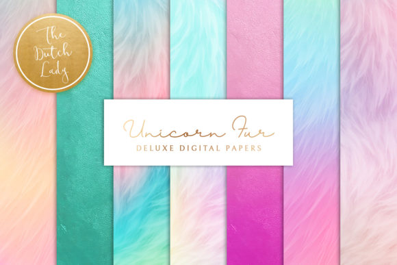 Print on Demand: Unicorn Fur Texture Backgrounds Graphic Textures By daphnepopuliers - Image 1