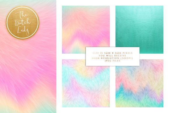 Print on Demand: Unicorn Fur Texture Backgrounds Graphic Textures By daphnepopuliers - Image 2