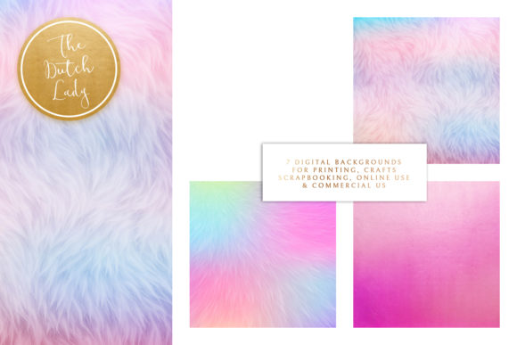 Print on Demand: Unicorn Fur Texture Backgrounds Graphic Textures By daphnepopuliers - Image 3