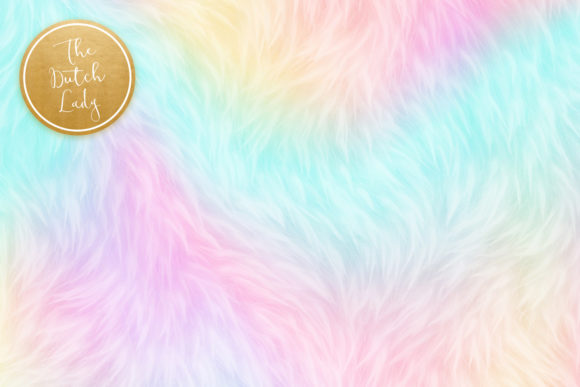 Print on Demand: Unicorn Fur Texture Backgrounds Graphic Textures By daphnepopuliers - Image 4