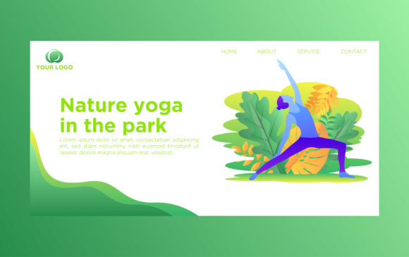Web Page Template of Yoga Graphic Websites By nainggig