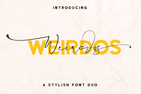 Print on Demand: Weirdos Script & Handwritten Font By Digital Hustler