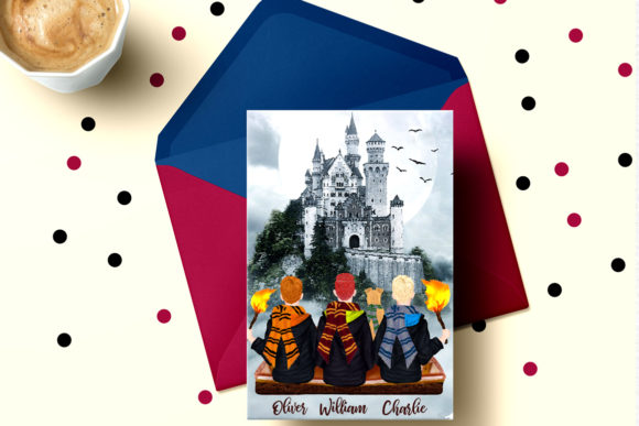 Wizard Boys Clipart, Castel Landscape Graphic Illustrations By LeCoqDesign - Image 6