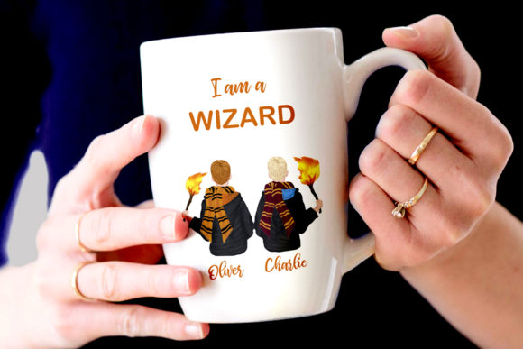 Wizard Boys Clipart, Castel Landscape Graphic Illustrations By LeCoqDesign - Image 8