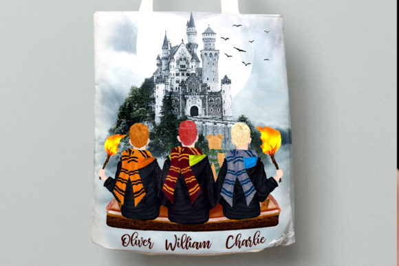 Wizard Boys Clipart, Castel Landscape Graphic Illustrations By LeCoqDesign - Image 9