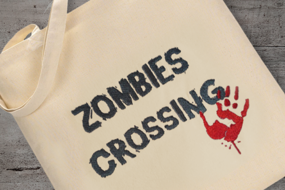Zombies Crossing Embroidery Halloween Embroidery Design By DesignedByGeeks - Image 2