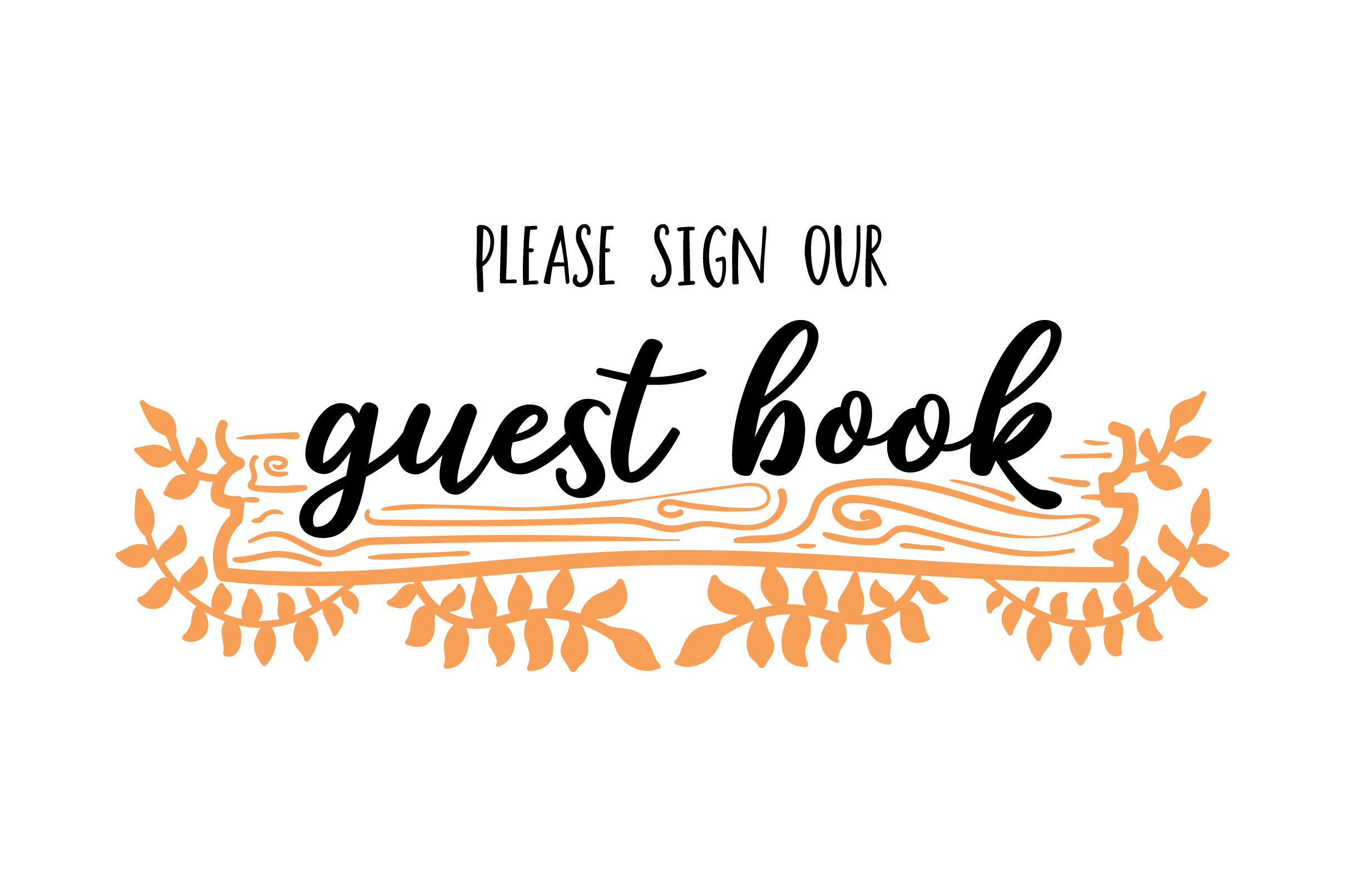 Please Sign Our Guest Book Rustic Theme Svg Cut File By
