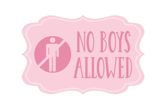 Download Free Photo Bachelorette Party Prop No Boys Allowed Svg Cut File By Creative Fabrica Crafts Creative Fabrica for Cricut Explore, Silhouette and other cutting machines.