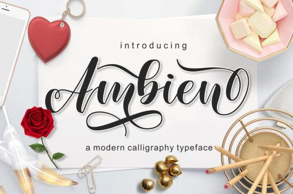 Print on Demand: Ambien Script & Handwritten Font By screen letter