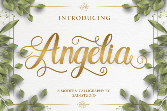 Print on Demand: Angelia Script & Handwritten Font By zainstudio