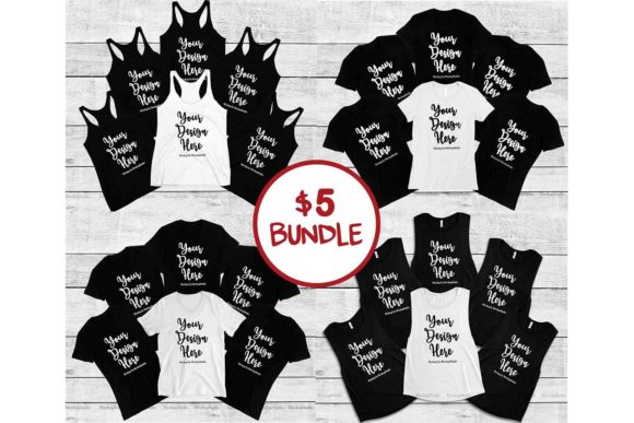 Print on Demand: Bachelorette Tee Mockup Bundle Graphic Product Mockups By Mockup Station