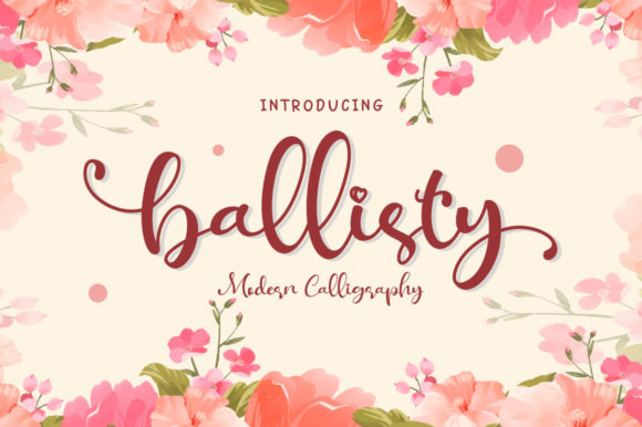 Print on Demand: Ballisty Script & Handwritten Font By EmbunStudio