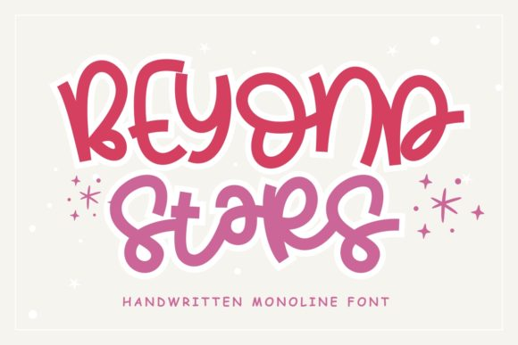 Print on Demand: Beyond Stars Script & Handwritten Font By HansCo - Image 1