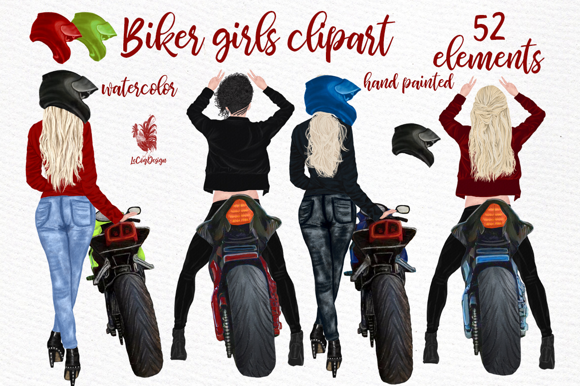 Download Free Biker Girls Clipart Female Riding Bike Graphic By Lecoqdesign for Cricut Explore, Silhouette and other cutting machines.