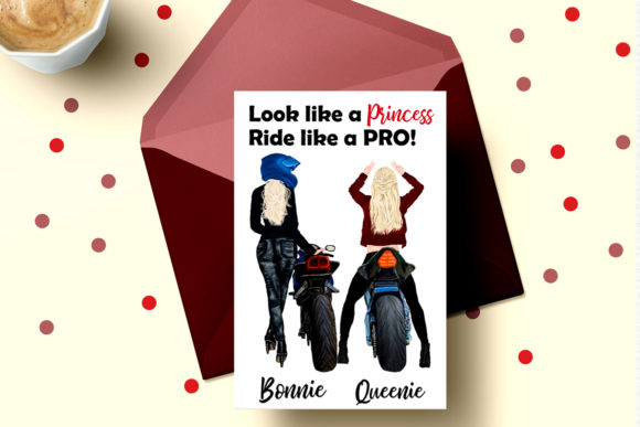 Biker Girls Clipart Female Riding Bike Graphic Illustrations By LeCoqDesign - Image 5